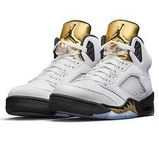 New Nike Air Jordan V Retro 5 Olympic Gold Medal Black White 136027-133 Men's 17