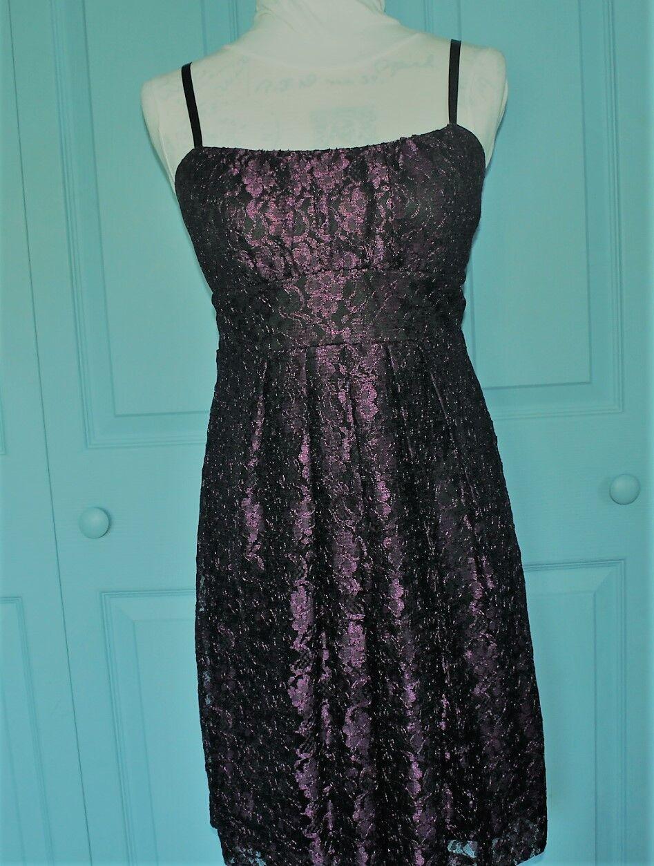 Lila Spitze Ärmelloses Kleid Größe 7 8 M
