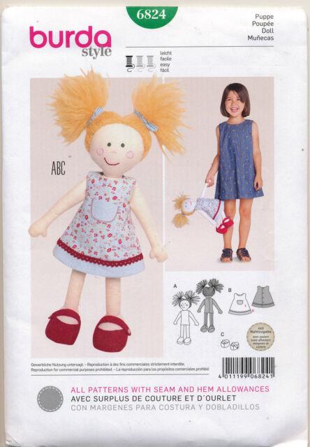 Burda Sewing Pattern 6824 1640cm Lalaloopsy Type Ragcloth Doll