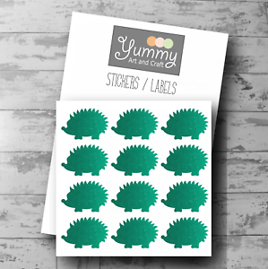 Labels Jars and other surfaces 24 Glittery Hedgehog Stickers for Envelopes