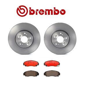 Set of 2-Brembo Front Disc Brake Rotor /& Brembo Front Brake Pads
