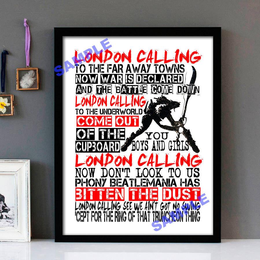 The Clash - London Calling Stunning Framed Lyrics