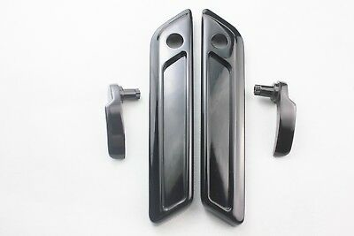 Matt black Harley touring Up to 2014 Saddlebag handle bars//grips and face covers