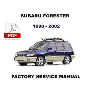 SUBARU FORESTER 1998 - 2002 FACTORY SERVICE REPAIR FSM MANUAL + WIRING  DIAGRAM | eBayeBay