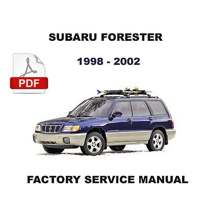 SUBARU FORESTER 1998 - 2002 FACTORY SERVICE REPAIR FSM ...