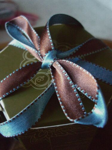 """REVERSES TO A SECOND COLOR! 7//16/"""" Double-Face Satin Ribbon"""