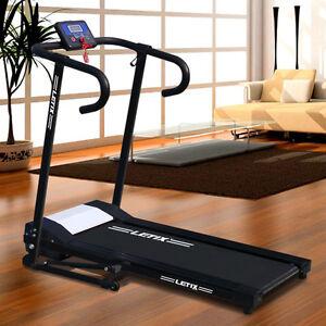 Motorisiertes laufband mit lcd display elektrisches fitnessger t heimtrainer neu ebay - Tapis de course occasion ebay ...