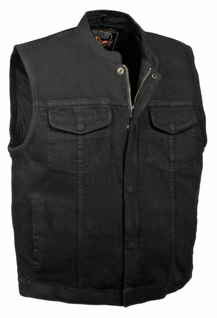 Motorcycle men's light weight cotton denim patch holder vest upto 12XL big size