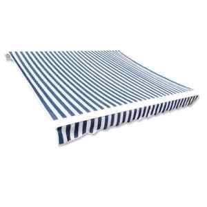 vidaXL Tendone da Sole Tela 3x2,5m Bianco Blu senza Telaio Tendalino Parasole