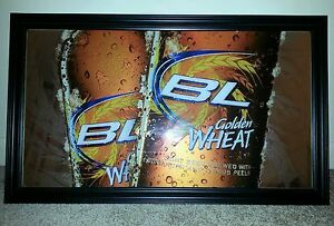 Exceptional Image Is Loading 2009 Bud Light Golden Wheat Bar Mirror