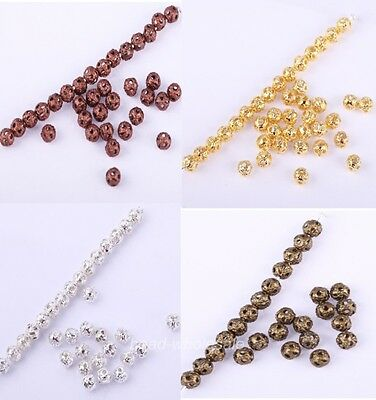 New 500pcs silver/golden/bronze/copper mini Spacer Bead For Jewelry DIY Findings