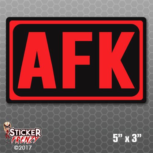 AFK Away From Keyboard Key Sticker Car Truck Bumper Vinyl Decal Nerd Gamer Gift