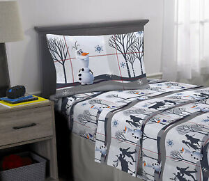 Disney Frozen 2 Olaf Kids Bedding Super Soft Flannel Sheet Set 3 Piece Twin Size Ebay