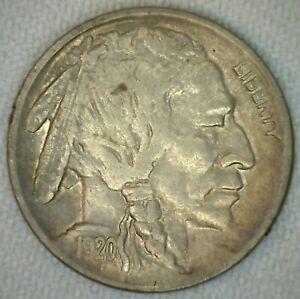 1920-Buffalo-Indian-Head-Nickel-5c-US-Coin-Five-Cents-XF-Extra-Fine-K55