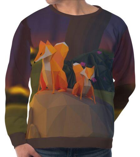 Fox Stein-Feuer Herren Sweatshirt Sweater Pullover wa5 aam40852