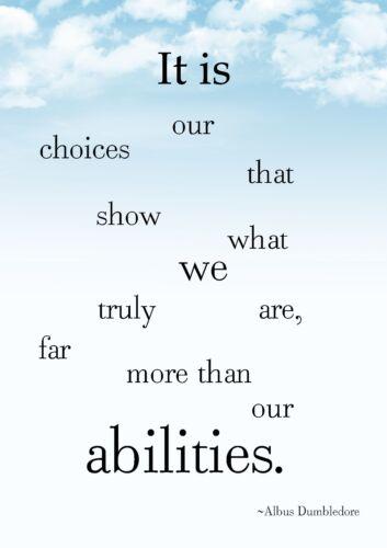 Inspirational Albus Dumbledore Quotes  Poster  A0-A1-A2-A3-A4-A5-A6-MAXI 102