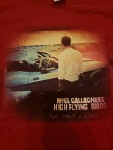 Noel-Gallagher-039-s-High-Flying-Birds-Custom-Soft-Gildan-T-shirt-RED-Men-Size-L