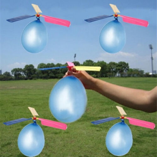 2pcs Helicopter Balloons Flying DIY Flight Science Plane Children Toy Party  R