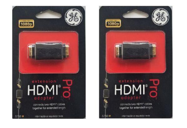 """""""new"""" Ge 32703 Extension Hdmi Adapter Pro • Pack Of 2 Om Een Hoge Bewondering Te Winnen"""