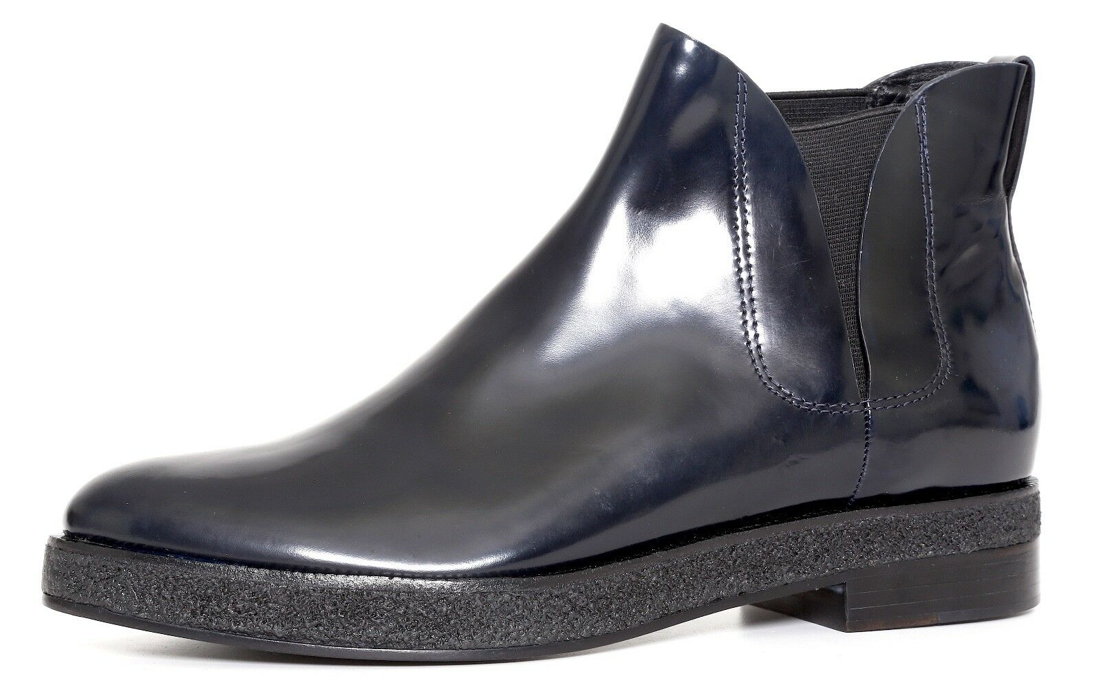 Alexander Wang Ankle Boots Patent Leather Navy Blue Women Sz 40.5