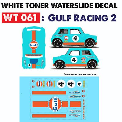 WT056 White Toner Waterslide Decal/> TIKI TRIBE />For Custom 1:64 Hot Wheels