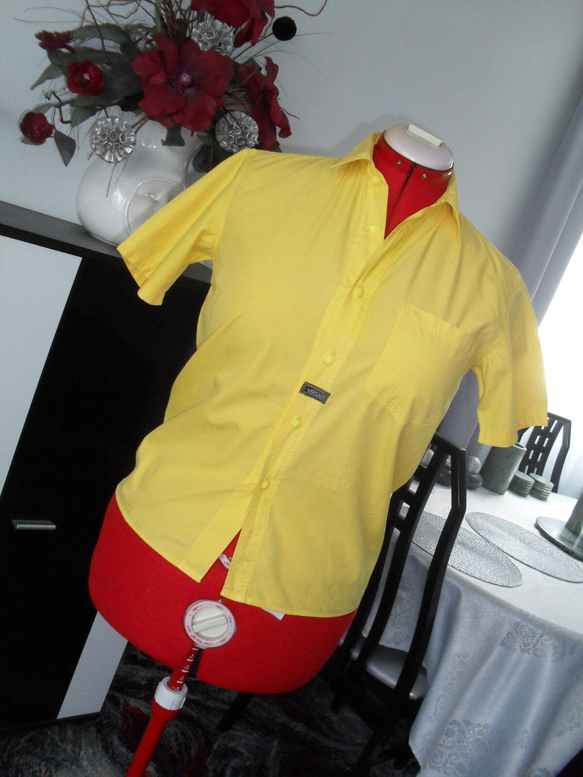 VINTAGE VERSACE YOUNG yellow cotton BOYS MEN'S SHIRT
