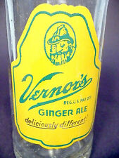 vintage ACL Soda POP  Bottle:  VERNOR'S GINGER ALE of ERIE, PA   - 8  oz ACL