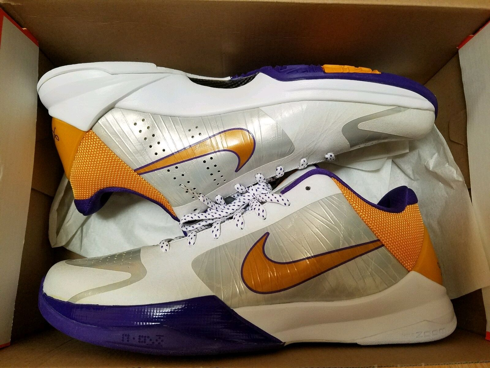 New Rare Nike Kobe Bryant V Home Men Basketball Shoes With Original Box Comfortable New shoes for men and women, limited time discount