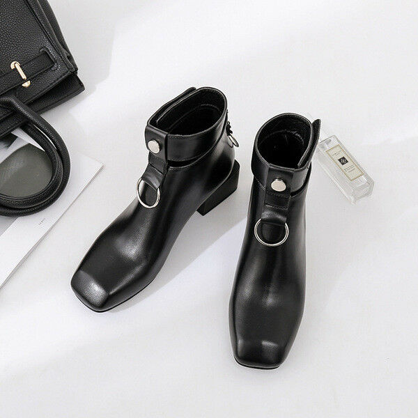 Stivali stivaletti bassi scarpe anfibi 5 cm nero  eleganti eleganti eleganti simil pelle 9651 3a9c2c