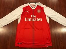 64c6160da 2016-17 Puma Arsenal Men s Home Long Sleeve Soccer Jersey Large L Gunners