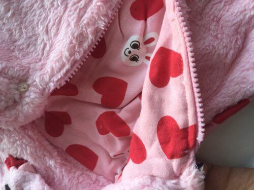 Boys Children Girl Kid Winter Fleece thermal warm Hooded Bear bunny Casual Vest