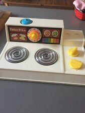 Vintage 1978 Retro Fisher Price Cooker Hob Play Kitchen