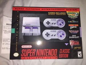 Details about **NEW LIMITED RARE** SNES Classic Mini - Super Nintendo  Entertainment System