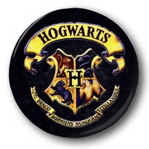 "Gryffindor 1/"" 25mm Pin Button Badge Harry Potter House Crest Logo J K Rowling"