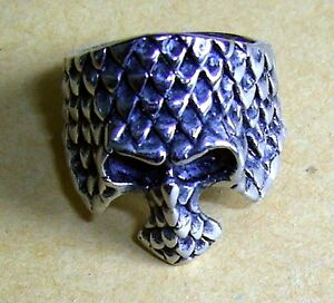 Stainless Steel No Stone He/&She Day of the Dead Bike Skull Unisex Ring Size 8-13