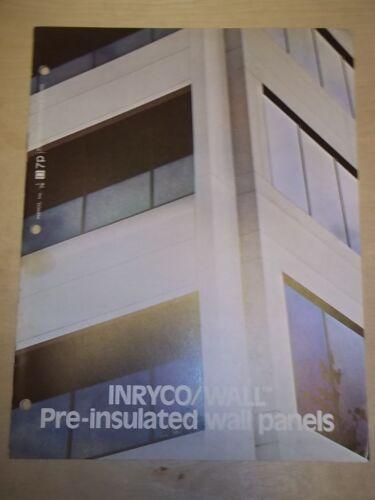 Vtg Inryco/Inland Steel Co Catalog~Wall Panels~Brochure