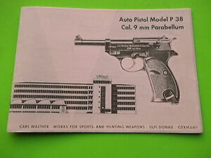 20 page owners manual for the carl walther p 38 parabellem 9mm rh ebay com Walther Model 2 Walther Model 11