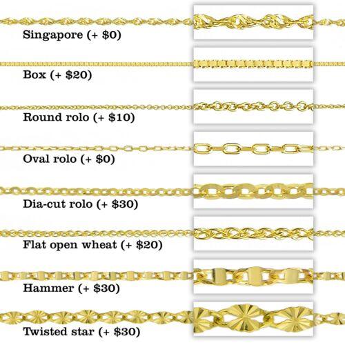 14K Two Tone Gold Santa Muerte Charm Pendant Necklace 0.8 mm Singapore Chain