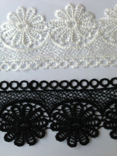 2.5/'/' Width Lovely Designed Polyester Embroidered Lace Water Soluble 1 m