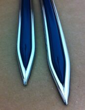 """Vintage type 5/8 """" Dark Blue with Chrome body side molding formed pointed ends"""