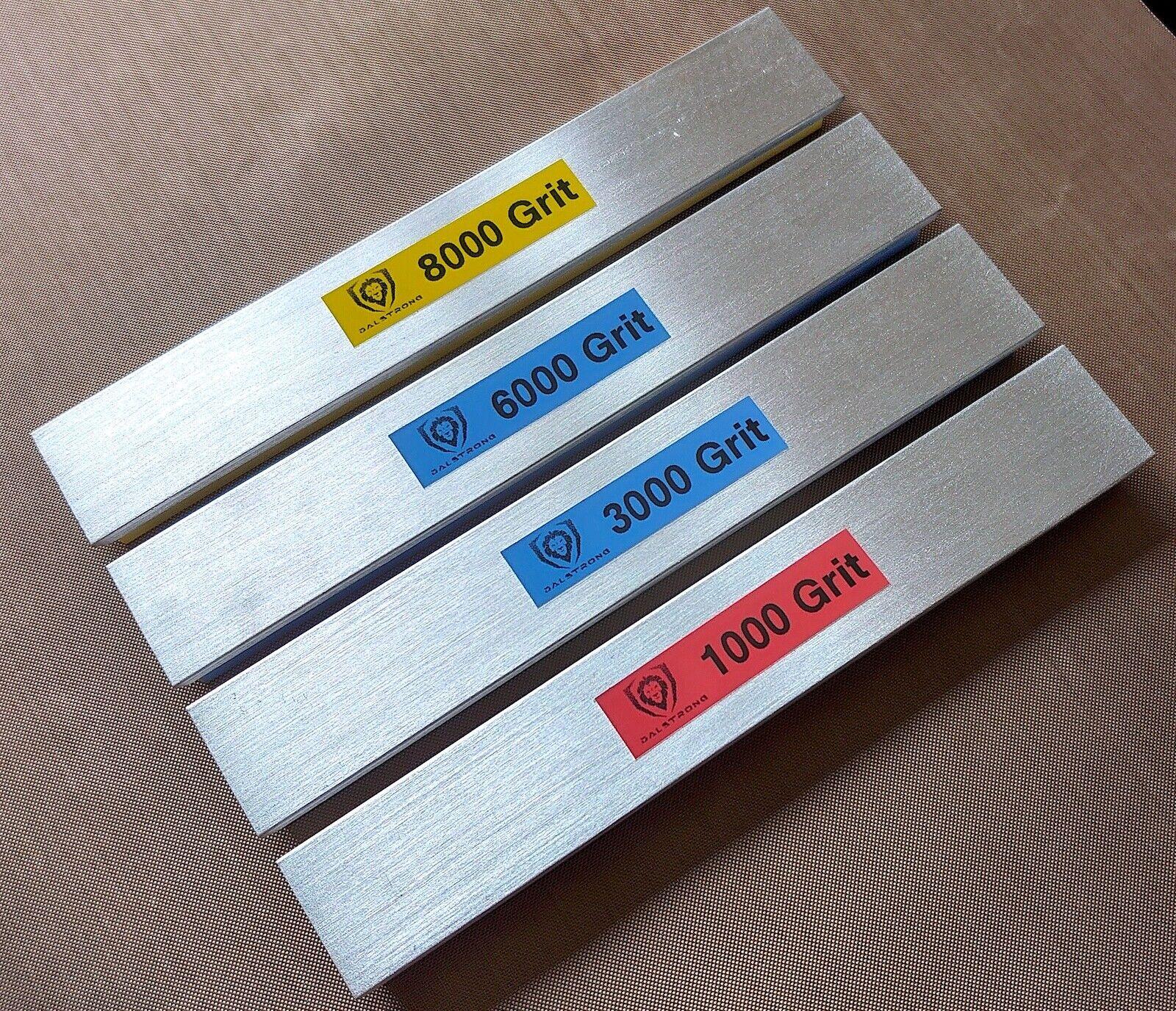 DALSTRONG 400-1K-3K-6K-8K Grit Whetstone Set for Apex Edge Pro Systems