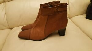 Very Ankle 6 Tan Good Size Uk Boots Elisa Condition 39 Eu Leather Ladies X5qwHcv