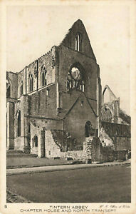 Tintern Abbey, Chapter House & North Transept England Vintage Postcard Unposted.
