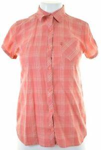 LEVI-039-S-Womens-Shirt-Short-Sleeve-Size-6-XS-Pink-Check-Cotton-DB05