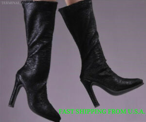 """1//6 Women Leather Ankle Boots Black For 12/"""" Phicen Hot Toys Female Figure ❶USA❶"""