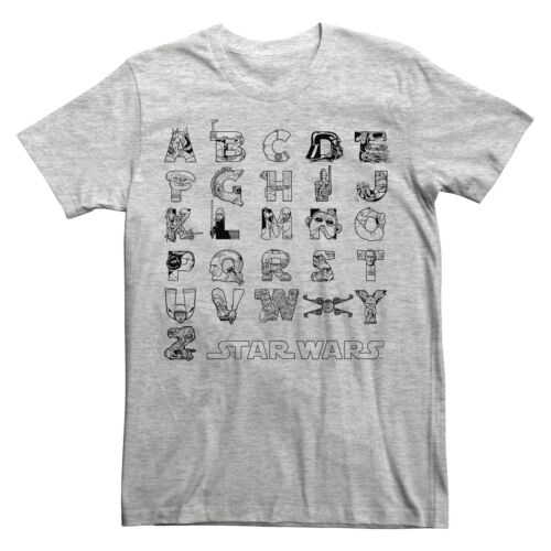 STAR WARS Alphabet TEE ~  Graphic Men/'s T-SHIRT NEW FREE US SHIPPING