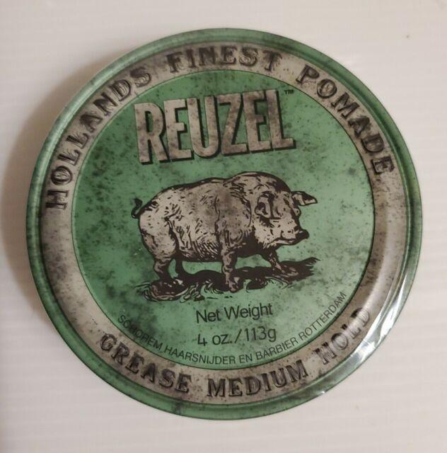 REUZEL GREEN Medium Hold Grease Pomade 4oz 113g
