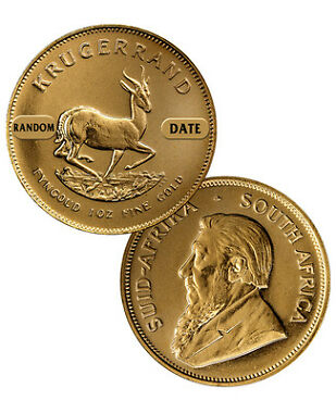 South Africa 1 Troy Oz Gold Krugerrand Coin