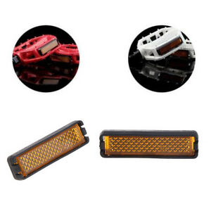 4X//set bicycle pedal reflector safety night cycling reflective bike accessory FB