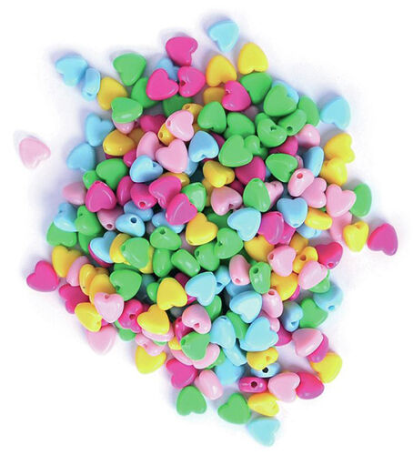 Assorted Colours The Craft Factory Plastic Beads